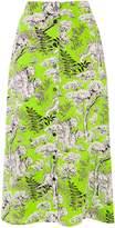 Warehouse Tiger Print Midi Skirt
