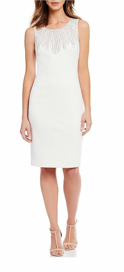 Calvin Klein Women's Sleeveless Dress with Embellishment