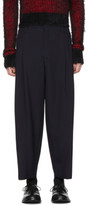 Comme des Garcons Navy Tropical Wool Trousers