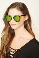 Forever 21 FOREVER 21+ Mirrored Cat Eye Sunglasses