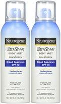 Neutrogena Ultra Sheer Body Mist Sunscreen - SPF 70 - 5 oz - 2 pk