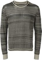 Maison Margiela striped knitted jumper - men - Cotton/Polyester - L