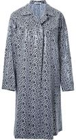 Jil Sander flower print single-breasted coat - women - Cotton - 36