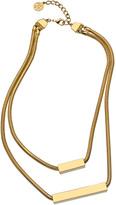 Ben-Amun Rectangle Double Snake Chain Necklace
