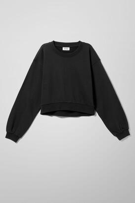 Weekday Noma Mini Sweatshirt - Black