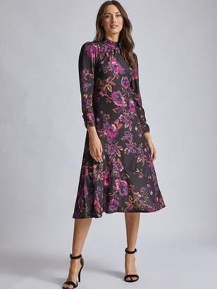 Dorothy Perkins Purple High Neck Midi Dress - Purple