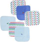 Sweet & Soft Blue Washcloth - Set of Six