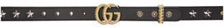 Gucci Black GG Bat Belt