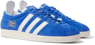 adidas Gazelle Vintage Leather-Trimmed Brushed-Suede Sneakers