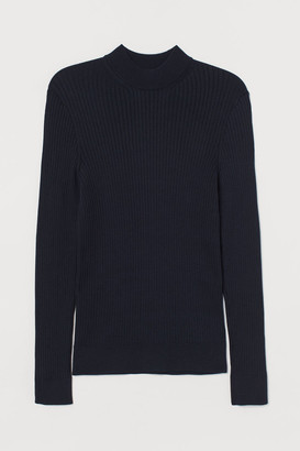 H&M Muscle Fit Sweater - Blue