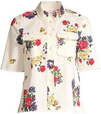 Tory Burch Printed Twill Floral Top