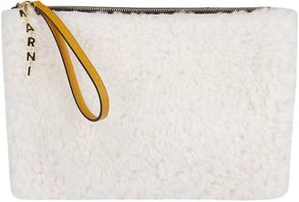 Marni Shearling Zipped Clutch
