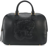 Gucci tiger's head holdall - men - Leather/Suede - One Size