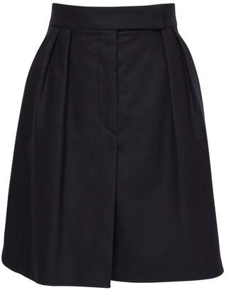 Max Mara Wool & Cashmere Flannel Skirt