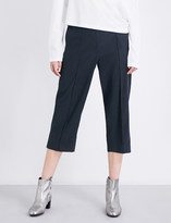 Maison Margiela Straight cropped twill trousers