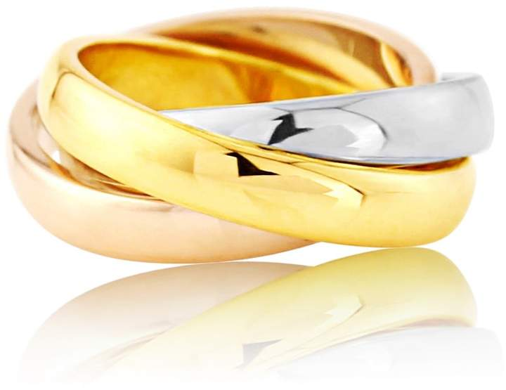 Walton Auree Jewellery Three Colour 9ct Gold Russian Wedding Ring 3mm