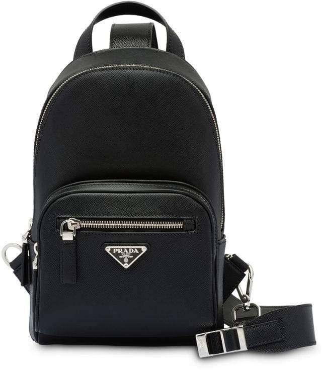 76cb1d9c5922e3 Prada Mens Black Backpacks - ShopStyle