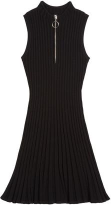 Milly Zipped Flare Dress, Size 7-16