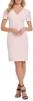 DKNY Short Pleat-Sleeve Sheath Dress