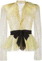 Philosophy di Lorenzo Serafini sheer polka-dot blouse