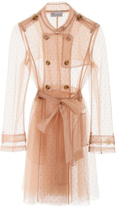 RED Valentino Point D'Esprit Trench Coat