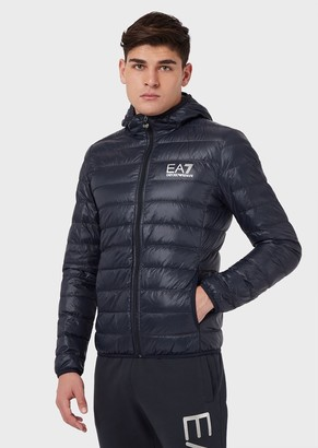 Emporio Armani Full-Zip Quilted Jacket In Tech Fabric