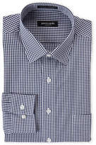 Pierre Cardin Navy Check Slim Fit Dress Shirt