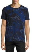 Burberry Camo-Print T-Shirt, Navy