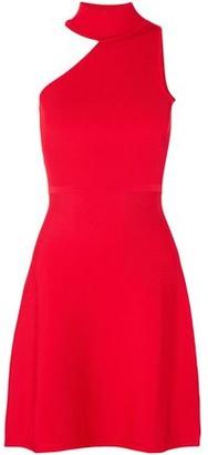 Cushnie Vika One-shoulder Stretch-knit Mini Dress
