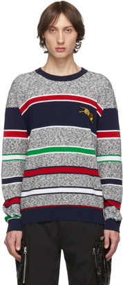 Kenzo Grey Jumping Tiger Crest Sweater