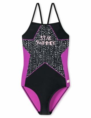 Schiesser Girl's Aqua Badeanzug Swimming Costume