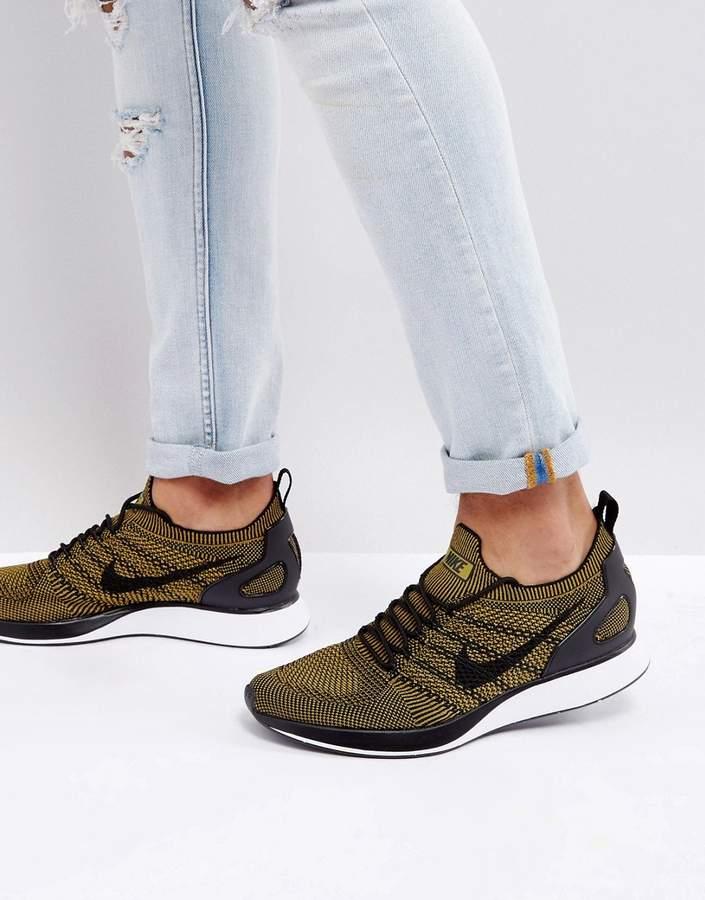 Nike Mariah Flyknit Racer Sneakers In Black 918264-004
