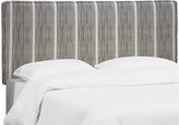 One Kings Lane Macy Headboard - Charcoal Linen - charcoal/white
