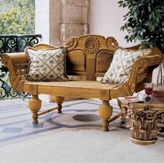 Design Toscano Halifax Console Wooden Garden Bench