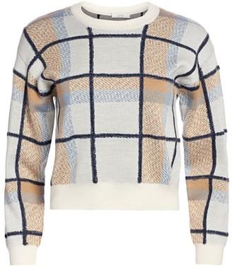 Joie Austine Plaid Crewneck Sweater