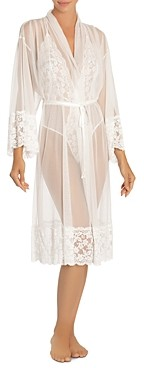 Jonquil Sheer Mesh and Lace Robe