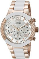 GUESS Women's U0770L2 Sporty Rose Gold-Tone Stainless Steel Watch with Multi-function Dial and Pilot Buckle