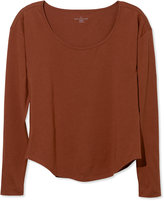 L.L. Bean Signature Cotton/Modal Tee Scoopneck, Long-Sleeve