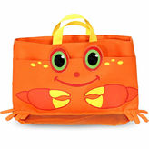 Melissa & Doug Playground Clicker Crab Beach Tote Bag Balls