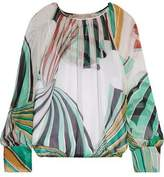 Emilio Pucci Printed Silk-Chiffon Blouse