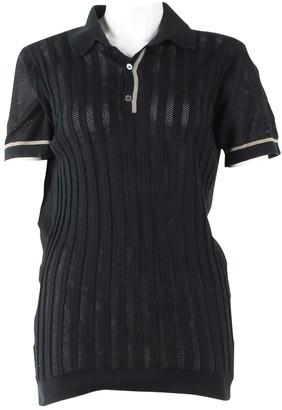 John Smedley Black Cotton Top for Women