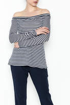 BCBGeneration Navy Stripe Knit Top
