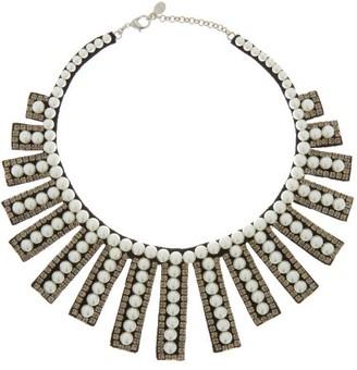 Erdem Faux-pearl & Crystal-embellished Necklace - Pearl