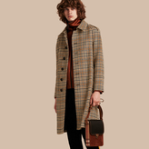 Burberry Single-breasted Wool Tweed Trench Coat