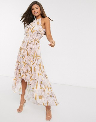 Ted Baker dixxie pleated floral midi dress