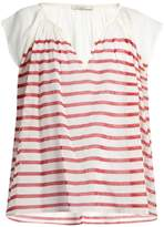 Mes Demoiselles Mathilde striped cotton-gauze blouse
