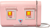 Fendi Embellished Leather Shoulder Bag - Pink