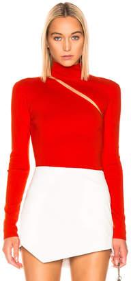 Dion Lee Lingerie Hook Turtleneck Sweater in Vermillion | FWRD