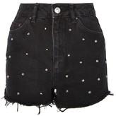 Topshop MOTO Stud Mom Shorts