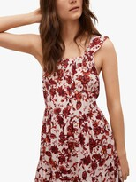 Thumbnail for your product : MANGO Floral Print Open Back Maxi Dress, Red